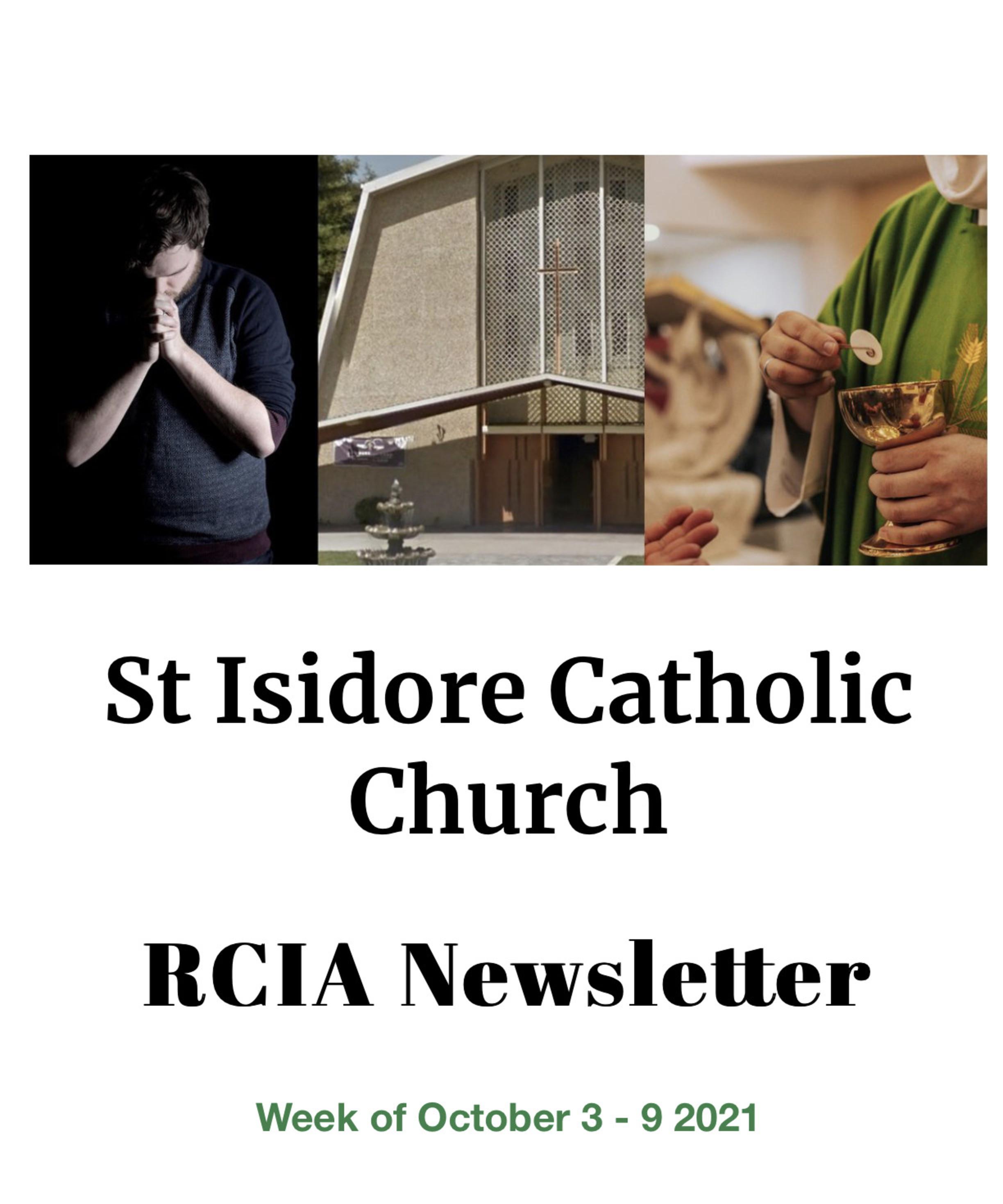 Rcia Newsletter October 3 9 2021